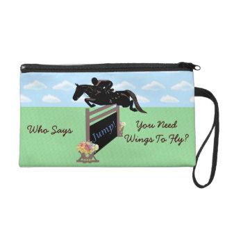 Fun Equestrian Horse Jumper Wristlet