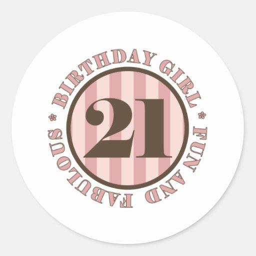 Fun & Fabulous 21st Birthday Gifts Sticker