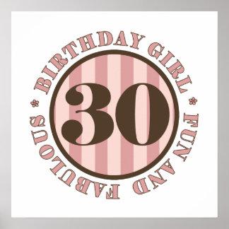 Fun & Fabulous 30th Birthday Gifts Poster