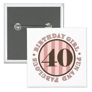 Fun & Fabulous 40th Birthday Gifts Button