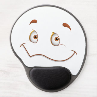 Fun Face with Smile Brown Eyes Gel Mouse Pad