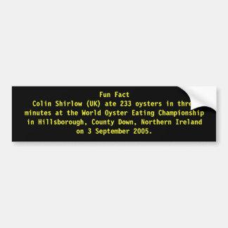 Fun Fact Bumper Sticker