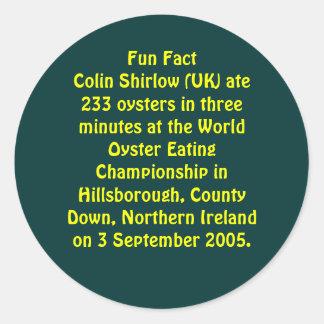 Fun Fact Classic Round Sticker