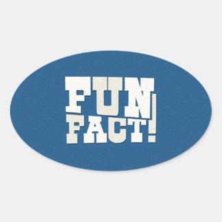 Fun Fact! Oval Sticker