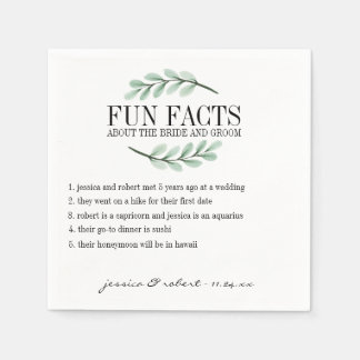 Fun Facts Eucalyptus Branches Personalized Paper Napkin