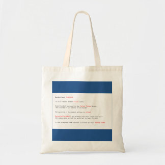 Fun facts Iceland budget tote bag