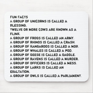 Fun Facts Mouse Pad