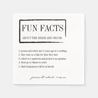 Fun Facts Personalized Paper Napkins