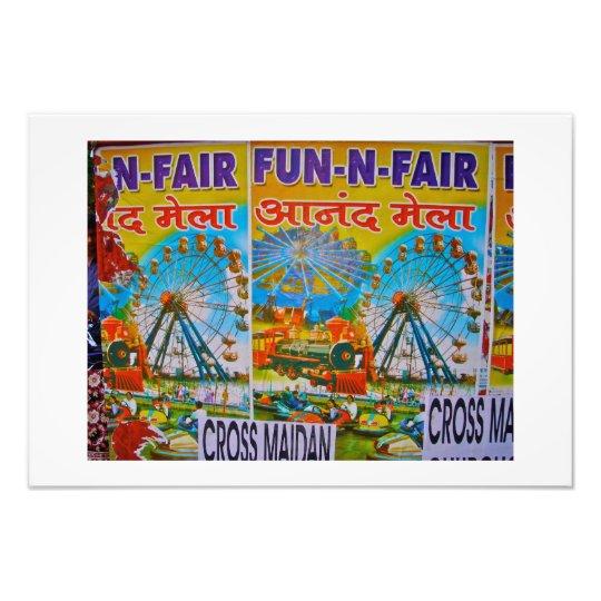 Fun Fair Advertisement-Mumbai (Bombay) india Photo Print