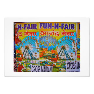 Fun Fair Advertisement-Mumbai (Bombay) india Photograph