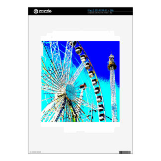 fun fair in amsterdam ferris wheel and high tower decals for iPad 2