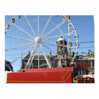 Fun fair in Amsterdam Postcard