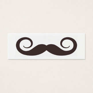 Fun Fake Handle-bar Mustache Skinny Business Card