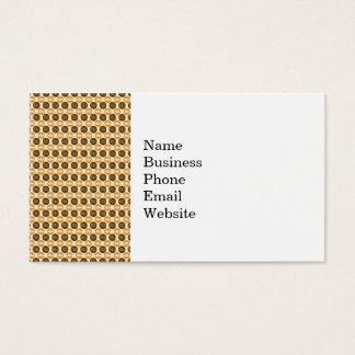 Fun Fall Brown and Orange Cloud and Circle Pattern Business Card