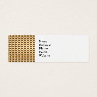 Fun Fall Brown and Orange Cloud and Circle Pattern Mini Business Card