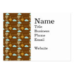 Fun Fall Harvest with Leafs and Cloud Pattern Business Card Templates