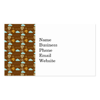 Fun Fall Harvest with Leafs and Cloud Pattern Business Card