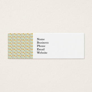 Fun Fall Harvest with Leafs and Cloud Pattern Mini Business Card