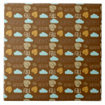 Fun Fall Harvest with Leafs and Cloud Pattern Tile