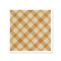 Fun Fall pattern plaid paper napkins