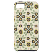 Fun Fall Tan and Green Floral Pattern iPhone 5 Cover