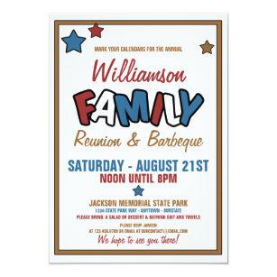Family Reunion Invitations Announcements Zazzle