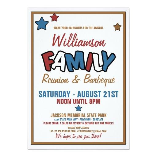 Family Reunion Invitation Templates is perfect invitation template