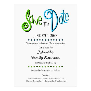 reunions Fun Family Reunion or Party Save the Date Postcard