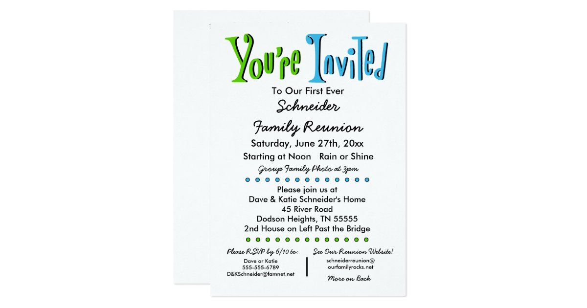Family Reunion Invitations Announcements – Reunion Party Invitations