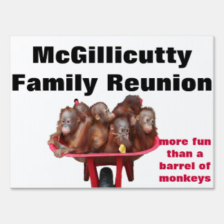 Fun Family Reunion Party Sign
