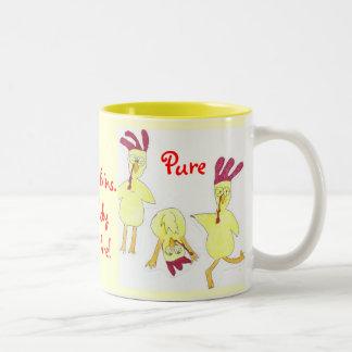 Fun farm kitchen cup. Two-Tone coffee mug