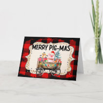 Fun Farm Pig Merry Christmas Card