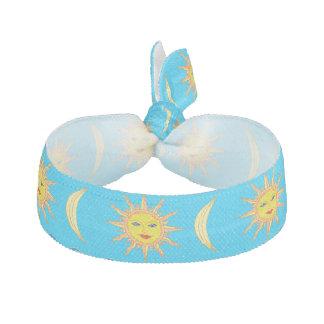 Fun Fashionable Whimsical Sun Moon Hair Accessory Ribbon Hair Tie
