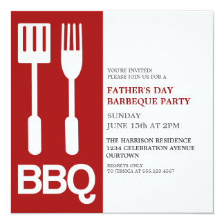 Fun Father's Day BBQ Party Invitations