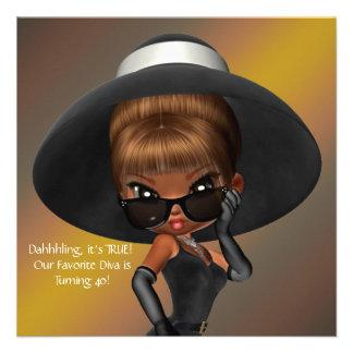 Fun Favorite Diva Birthday Party Custom Announcements