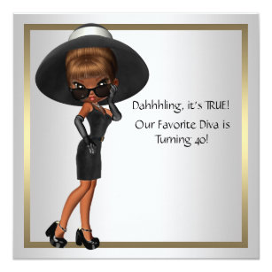 Diva Invitations Announcements Zazzle
