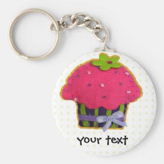 Fun felt glitter cupcake keychain