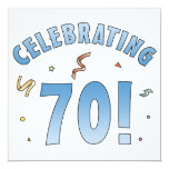 Fun Festive 70th Birthday Gifts Custom Announcement