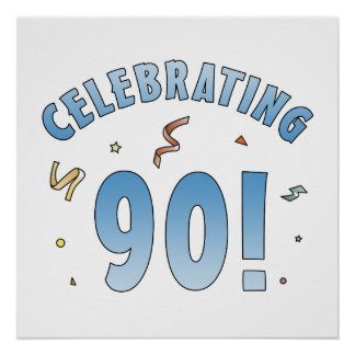 Fun Festive 90th Birthday Gifts Poster