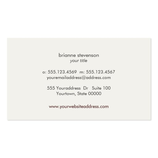 Fun Festive Brown Linen FAUX Gold Sequin Beauty Business Cards (back side)