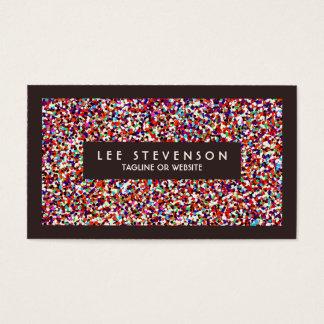 Fun Festive Colorful Confetti Event Planner Business Card