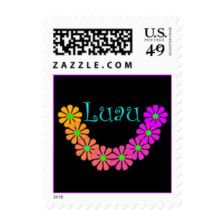 Fun Festive Luau Law Party Floral Stamp Garland