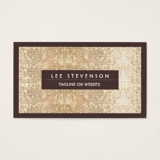 Fun Festive Sparkly Gold Sequin Retro Salon Business Card