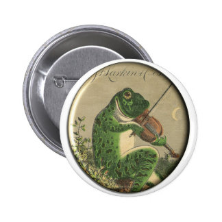 Fun Fiddling Frog Button