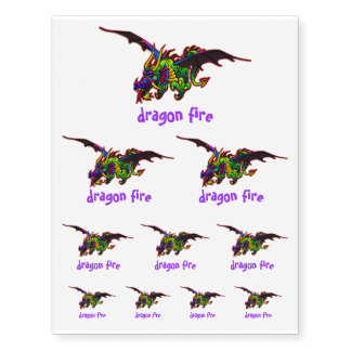 Fun Fierce Flying Dragon Temporary Tattoos