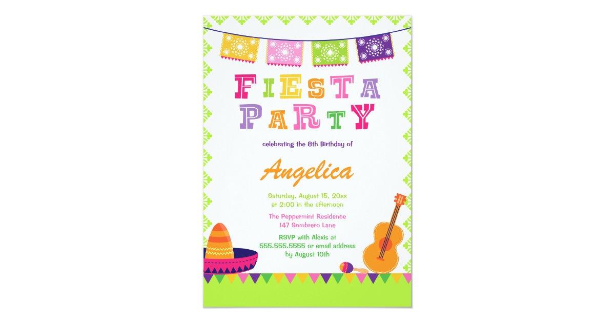 Kids Fiesta Birthday Party Invitations & Announcements | Zazzle