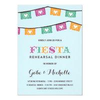 Fun Fiesta   Wedding Rehearsal Dinner Card