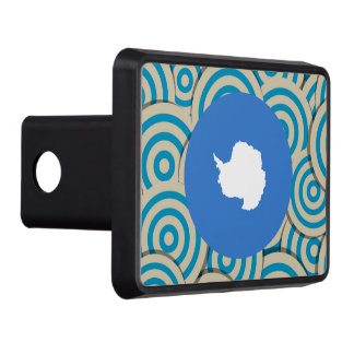 Fun Filled, Round flag of Antarctica Tow Hitch Cover