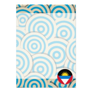 Fun Filled, Round flag of Antigua and Barbuda Card