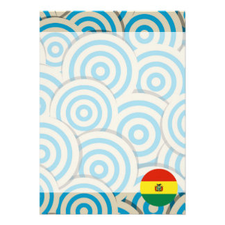 Fun Filled, Round flag of Bolivia Card